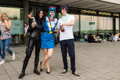 Cosplayers posing during Comic Con Germany in Stuttgart Stock Photos
