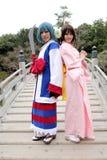 cosplayers potomstwa żeńscy japońscy Zdjęcia Stock
