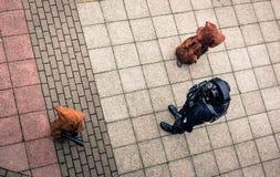Cosplayers se vistió como caracteres del ` de Star Wars del ` Fotografía de archivo