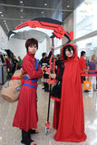 Cosplayers wearing costumes and fashion accessorie Royalty Free Stock Photography