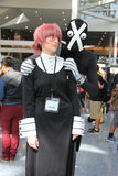 Cosplayers wearing costumes and fashion accessories at Anime Exp. Cosplay or Custume Play, a performance art in which participants called cosplayers wear Royalty Free Stock Photo