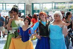 Cosplayers wearing costumes and fashion accessories at Anime Exp. Cosplay or Custume Play, a performance art in which participants called cosplayers wear Royalty Free Stock Images