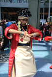Cosplayers wearing costumes and fashion accessories at Anime Expo in Los Angeles, California, in July 2014. Cosplay or Custume Play, a performance art in which Stock Photography
