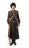 Cossack do russo que está na atenção. Imagens de Stock Royalty Free