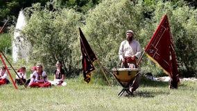 Cossack drums stock video
