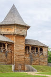 Cossack fortress from logs. Stock Photo