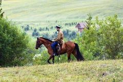 Cossack on horseback Royalty Free Stock Photography
