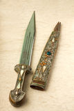 Cossack knife. Closeup of a old rusty Cossack knife Royalty Free Stock Image