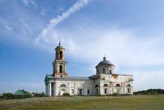 cossack kościelna wioska Zdjęcie Royalty Free