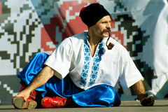 Cossack in national ukrainian dress Royalty Free Stock Images