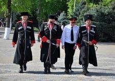 Cossack parade on April 21, 2012 in Krasnodar, Rus Royalty Free Stock Images