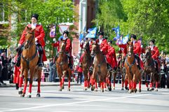 Cossack parade on April 21, 2012 in Krasnodar, Rus Royalty Free Stock Photo