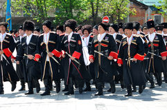 Cossack parade Stock Images