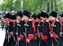Cossack parade Royalty Free Stock Photo