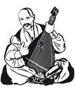 Cossack Playing A Musical Instrument Kobza Stock Image