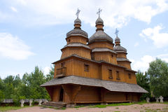 Cossack's church. This is a cossack church in Cossack Mamay's village in Kiev, Ukraine Stock Photography