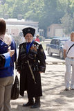 Cossack. Street festivities in the park Flower Garden in Pyatigorsk. May 9, 2013 royalty free stock image