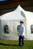 Cossack with a tent Royalty Free Stock Photo