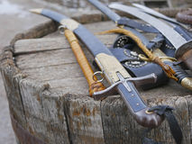 Cossack weapons, swords, swords. Medieval weapons , historical sword , Ukrainian style Cossack saber Royalty Free Stock Image