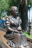 Cossack woman. Sculpture of Russian Cossack woman. Rostov-on-Don Royalty Free Stock Images