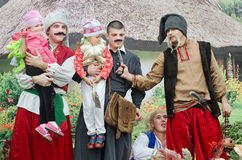 Cossacks were holding their children. Ukraine. Stock Images