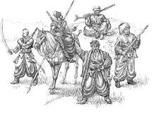 cossacksillustration royaltyfri illustrationer