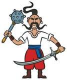 Cossaco ucraniano com armas Imagens de Stock Royalty Free