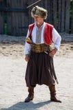 Cossaco ucraniano no vestido nacional Fotos de Stock Royalty Free