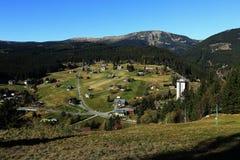 Cosse Snezkou, les montagnes géantes de PEC Photos stock