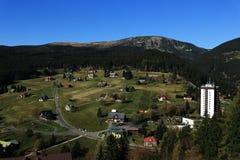 Cosse Snezkou, les montagnes géantes de PEC Image libre de droits