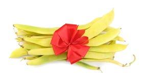 Cosses d'haricots avec le cadre décoratif Photographie stock libre de droits