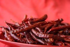 Cosses d'un rouge ardent de peper de s/poivron rouges Photo stock
