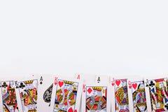 Cosses royales d'instantané de casino de cartes de jeu Image stock