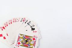 Cosses royales d'instantané de casino de cartes de jeu Photos stock