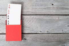 Cosses royales d'instantané de casino de cartes de jeu Photo stock