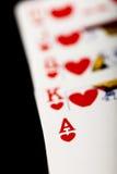 Cosses royales d'instantané de casino de cartes de jeu Photos libres de droits