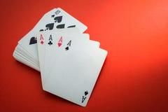 Cosses royales d'instantané de casino de cartes de jeu Photo stock
