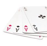 Cosses royales d'instantané de casino de cartes de jeu Image libre de droits