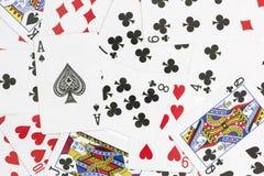 Cosses royales d'instantané de casino de cartes de jeu Images stock