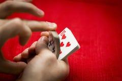 Cosses royales d'instantané de casino de cartes de jeu Photographie stock libre de droits