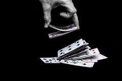 Cosses royales d'instantané de casino de cartes de jeu Photo libre de droits