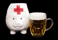 Cost of alcohol abuse on healthcare system Royalty Free Stock Image