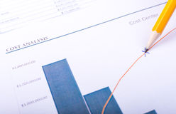 Cost analysis Stock Images