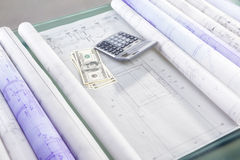 Cost of architecture design Stock Image