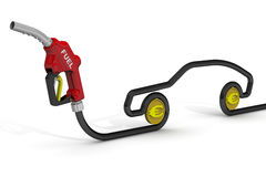 The cost of automotive fuel Royalty Free Stock Images
