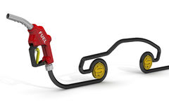 The cost of automotive fuel Stock Photo
