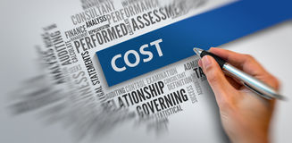 COST | Bedrijfsconcept royalty-vrije stock foto's