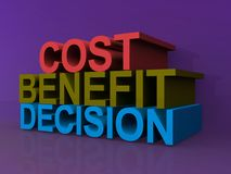 Cost, benefit, decision Royalty Free Stock Photography