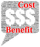 Cost benefit word cloud shape Royalty Free Stock Image