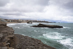 Coast of Biarritz Royalty Free Stock Image